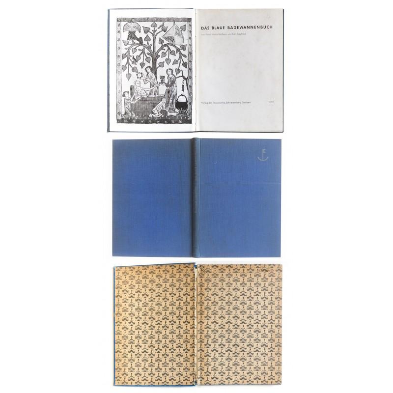Feldhaus, Dr.-Ing. Franz Maria und Dr. Karl Siegfried, Potsdam: Das blaue Badewannenbuch (1932)