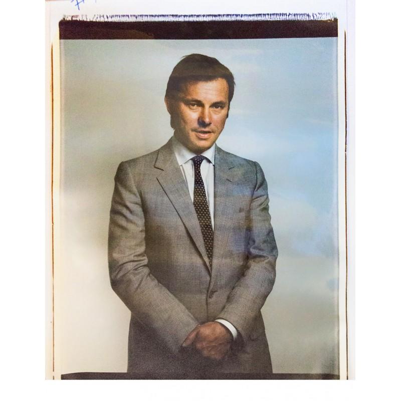 BOM, Ruud: Der Fotograf (?) bei der Vorbereitung zu den Grossformat-Polaroid Aufnahmen beim Kanzlerfest1980.