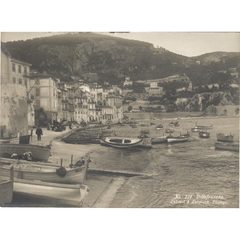 LEHNERT & LANDROCK: VILLEFRANCHE-SUR-MER. Original Fotografie (ca. 1910)