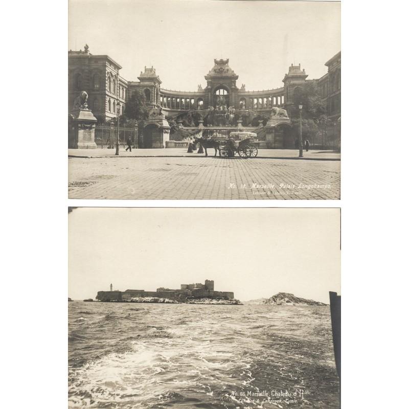 LEHNERT & LANDROCK: MARSEILLE. 2 Original Fotografien (ca. 1910)
