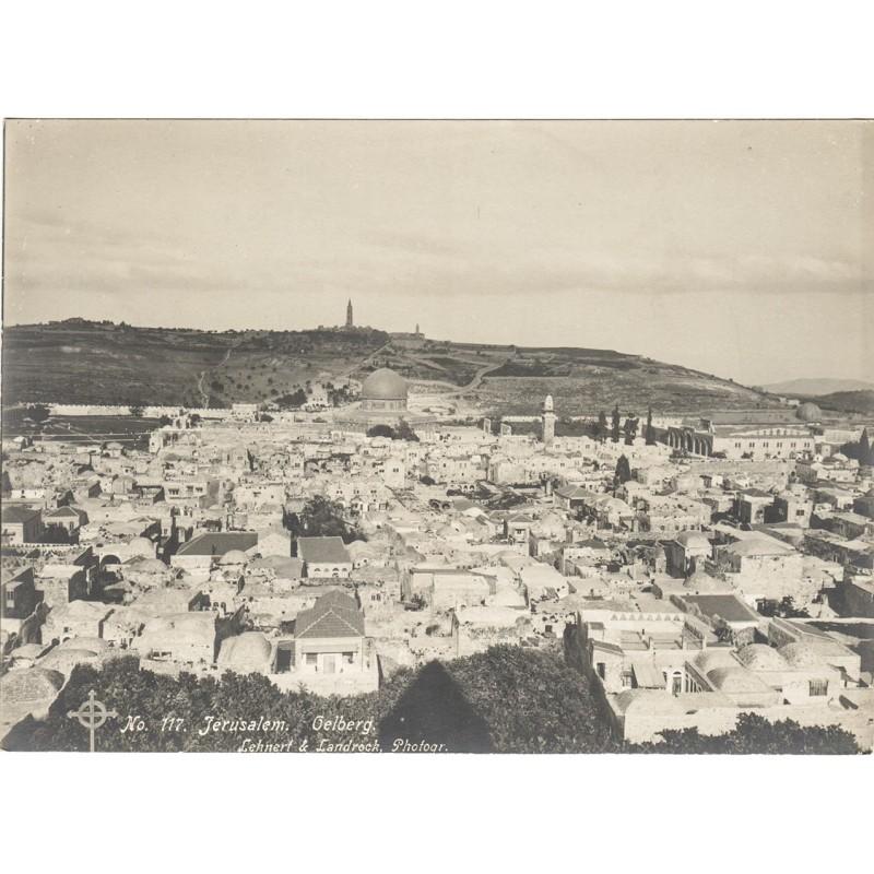 LEHNERT & LANDROCK: JERUSALEM. 3 original photographs (1910th)