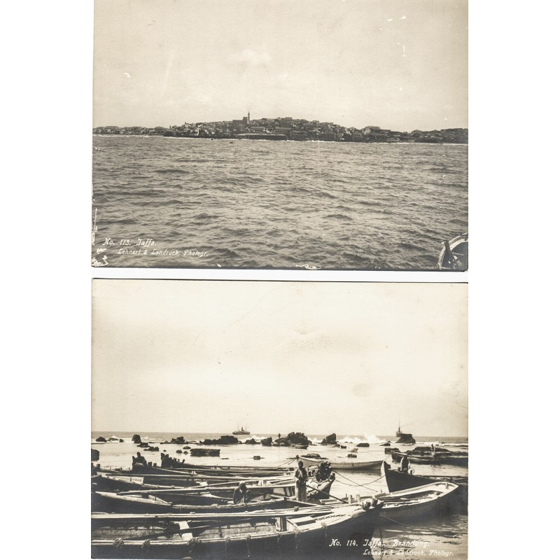 LEHNERT & LANDROCK: JAFFA.  2 original photographs (1910th)