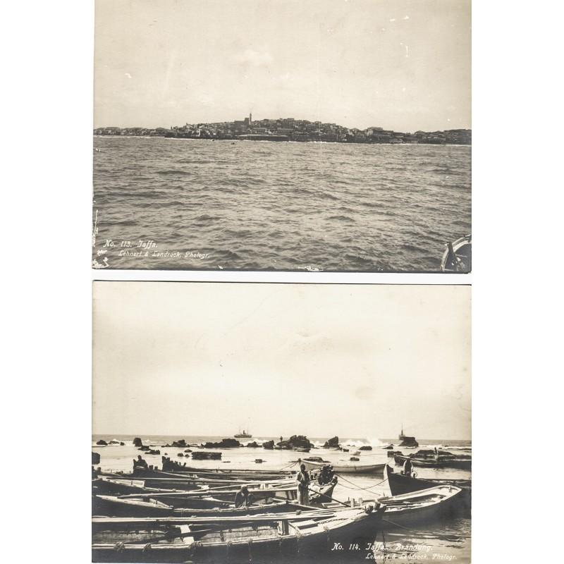 LEHNERT & LANDROCK: JAFFA. 2 original photographs (1910th)