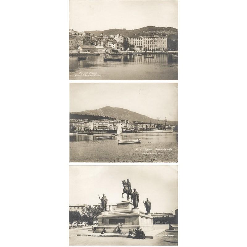 LEHNERT & LANDROCK: AJACCIO. 3 Original Fotografien (ca. 1910)