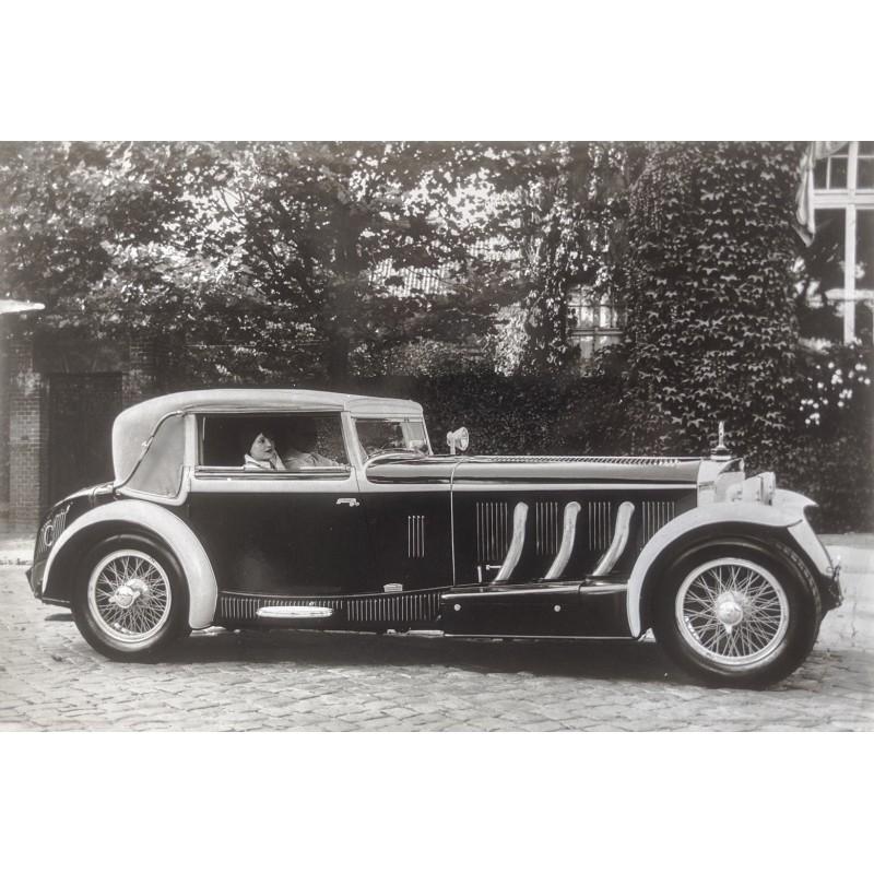 Klein Coche Mercedes-Benz 710 SSK Sport-Cabriolet. Original Foto (1929 - Abzug 1970er).
