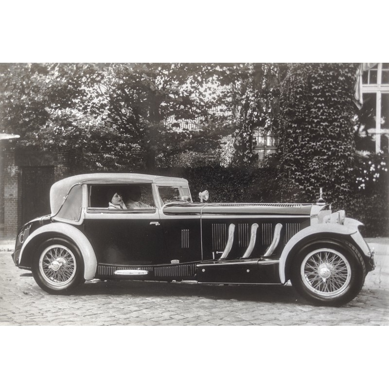 Klein Coche Mercedes-Benz 710 SSK Sport-Cabriolet. Original photography (1929 - print 1970th)