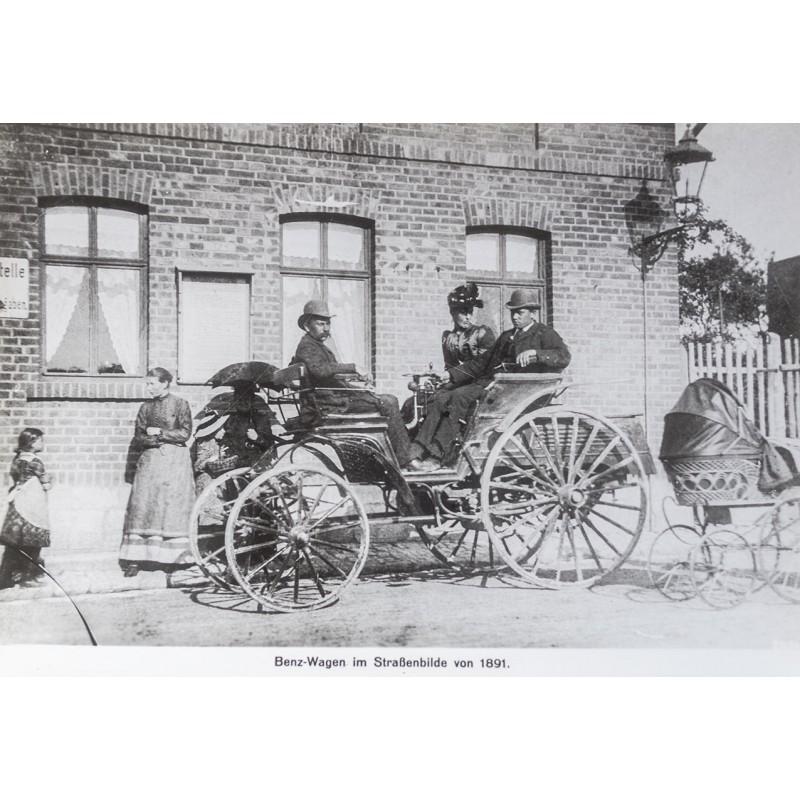 Benz Vis-a-Vis Wagen, 1891. Original Fotografie (Abzug 1961)
