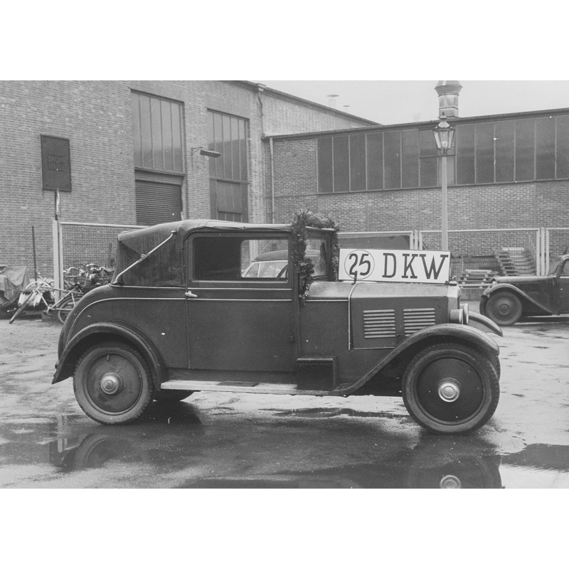 DKW Dreisitzer aus dem Jahr 1929. Original Fotografie (Abzug von 1961)