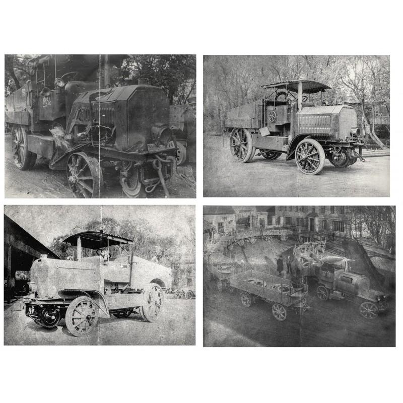 Ferdinand PORSCHE - Seine ersten Fahrzeug-Konstruktionen.4 Fotos (1915 - 1917)