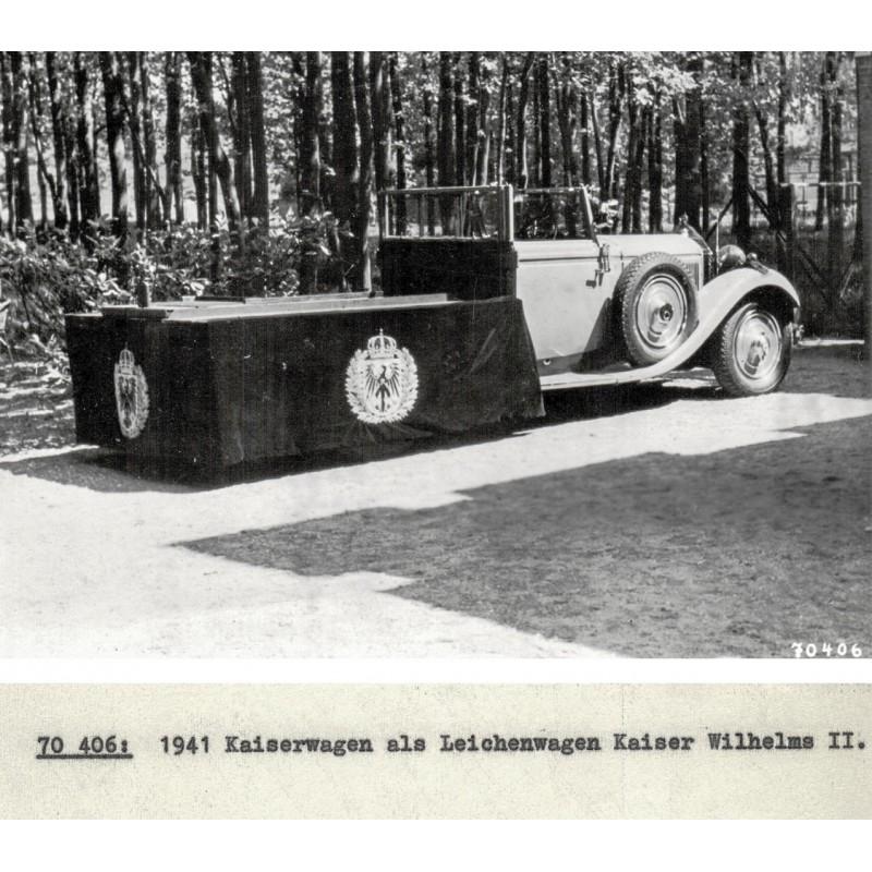 Der Leichenwagen von Kaiser Wilhelm II, Original Fotografie (1941 - Abzug von 1961).