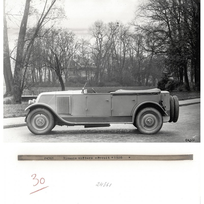 Renault Vivasix Voiture Circuit (Type PG), 1928. Original photography (print 1960th)