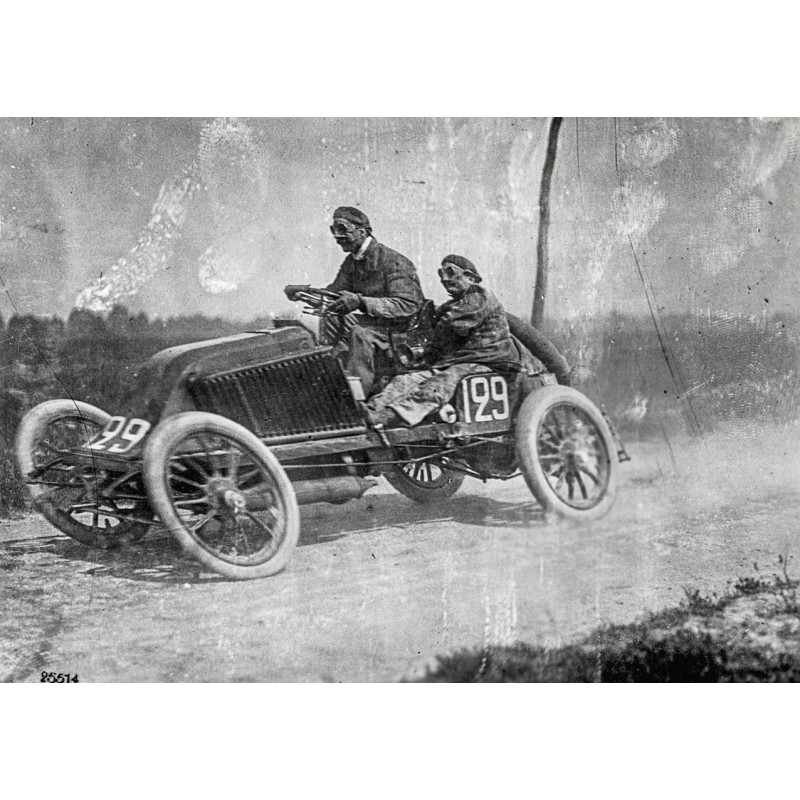 Car Race Paris - Madrid: Marcel Renault and Louis Renault on tour (1903 - printed 1960th)