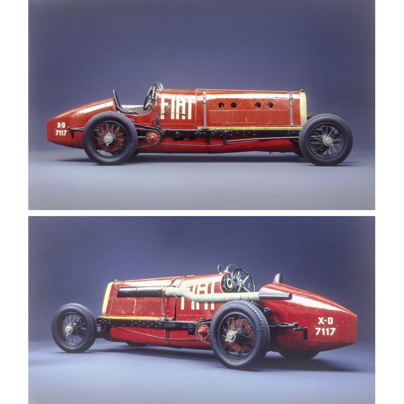 Prosper du Bois-Reymond: Racing Car FIAT Mistofele (1924). TWO big sized Kodak color slides (1970th)