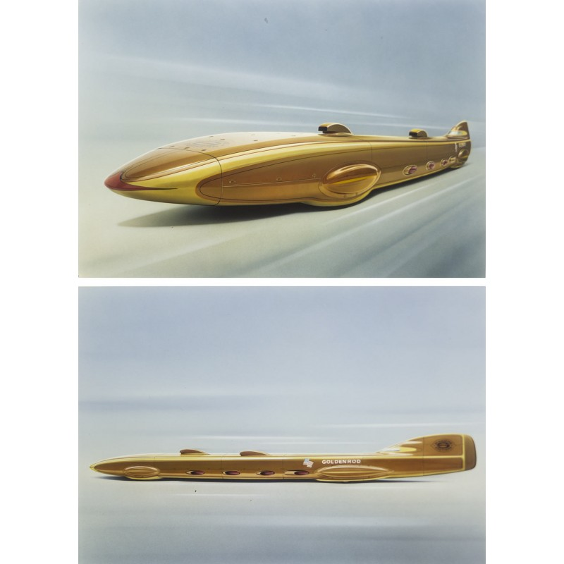 Prosper du Bois-Reymond: GOLDENROD Versuchsfahrzeug der Gebrüder Summers, USA, 1964.