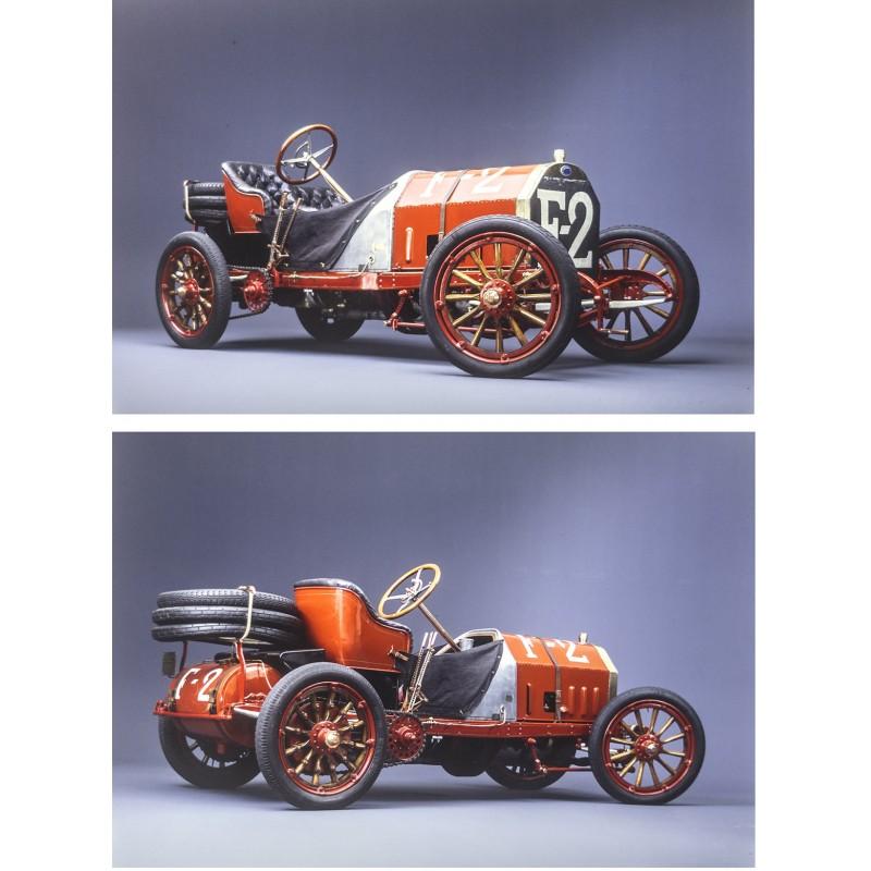 Prosper du Bois-Reymond: FIAT 130 (1907). Zwei professionell erstellte Kodak Farbdiapositive im Grossformat (1977)