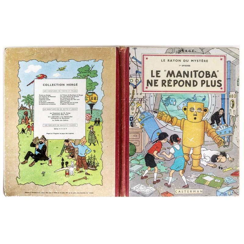 Comic - Herg:: Les Adventures de Jo, Zette et Jocko: Le Rayon du Mystère, 1er Episode (1952)