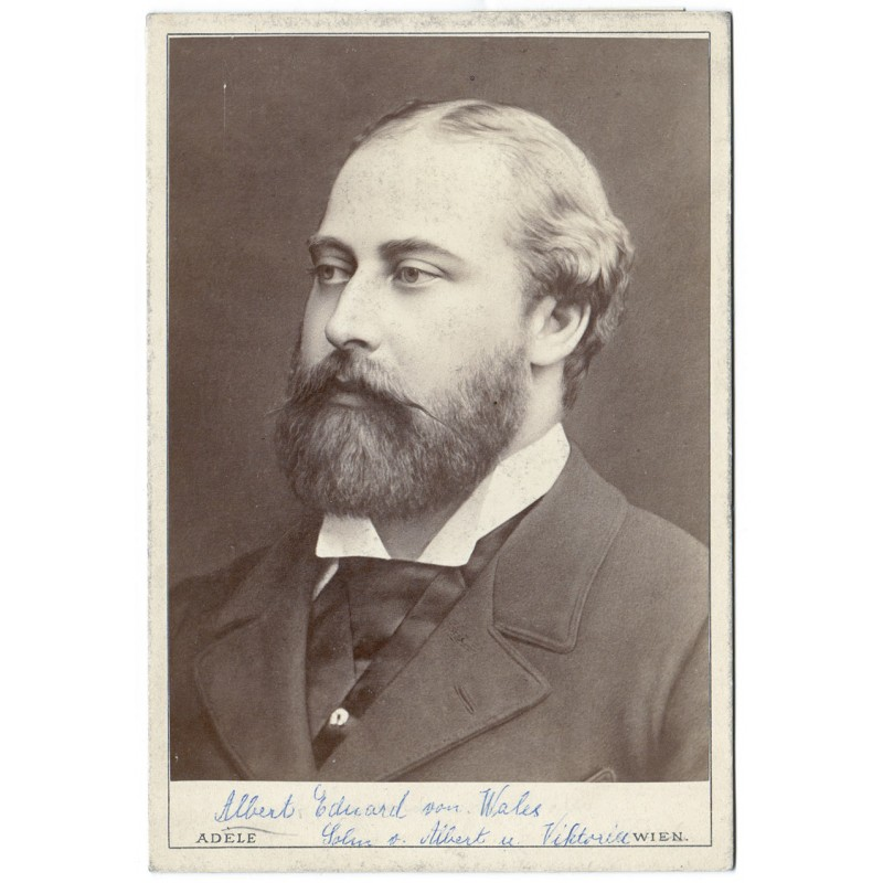 HRH Albert-Edward Prince of Wales. Original photography. Albumen print (approx. 1880).
