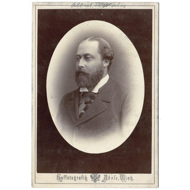 HRH Albert-Edward Prince of Wales. Zwei Original Fotografien. Albumin-Abzüge (ca. 1878 / 1900).