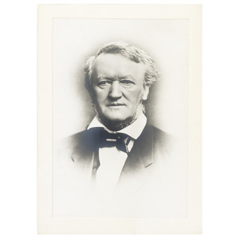 Richard Wagner portrait. Original photography (1870th. - print approx. 1900).