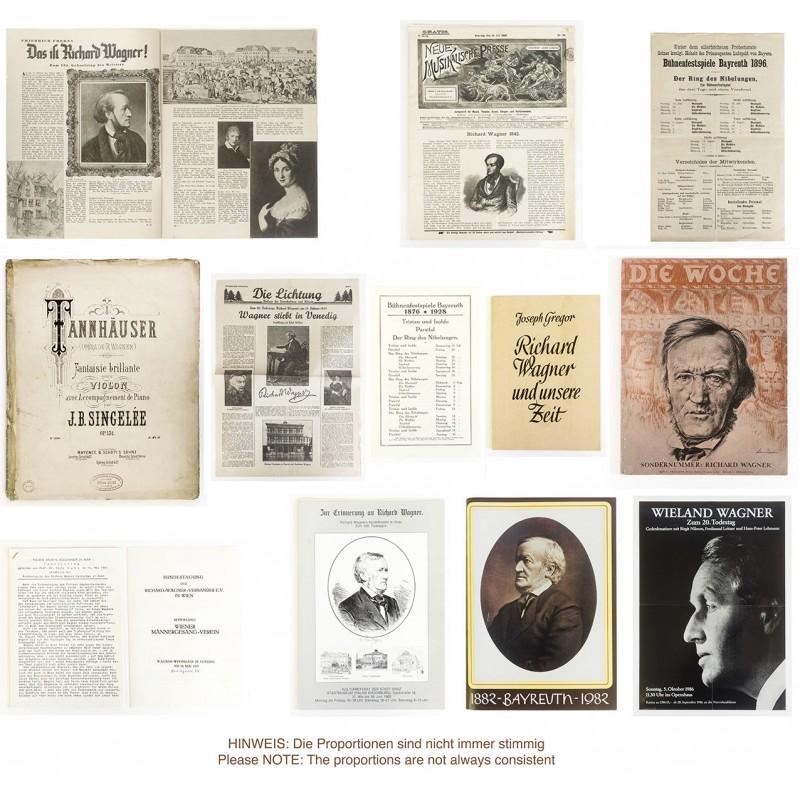 Grosses Konvolut zum Werk von Richard WAGNER 1896 - 1986