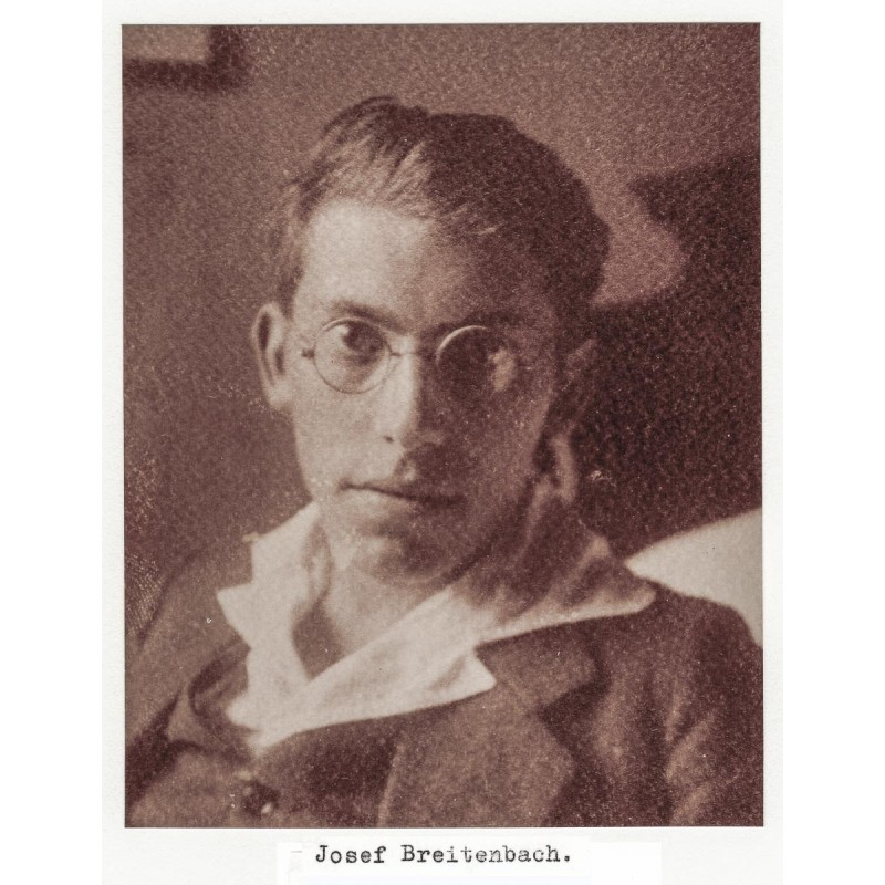 The socialist and later world-renowned photographer Josef BREITENBACH in a photo album (1911 - 1932)