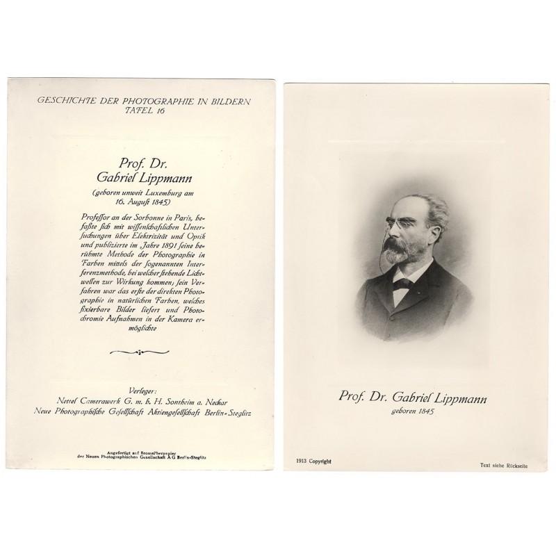 Portrait of Prof. Dr. Gabriel LIPPMANN. Original photography (1913).