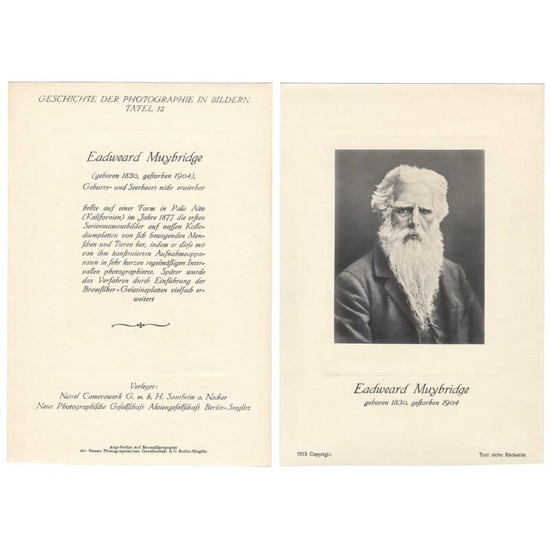 Bildnis von Eadweard MUYBRIDGE. Original Fotografie (1913)