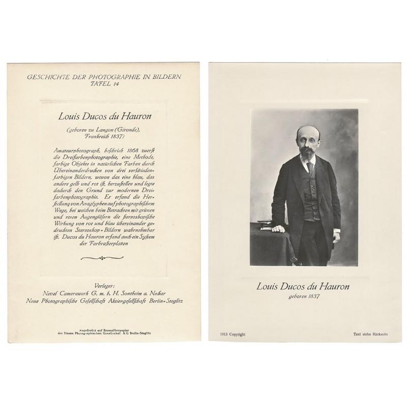 Portait of Louis Ducos du HAURON. Original photography (1913)