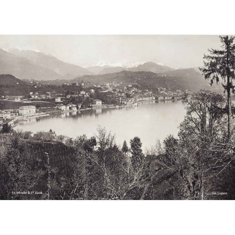 Schroeder & Cie, Zürich: Ansicht von LUGANO. Albumin-Abzug (ca.1885)