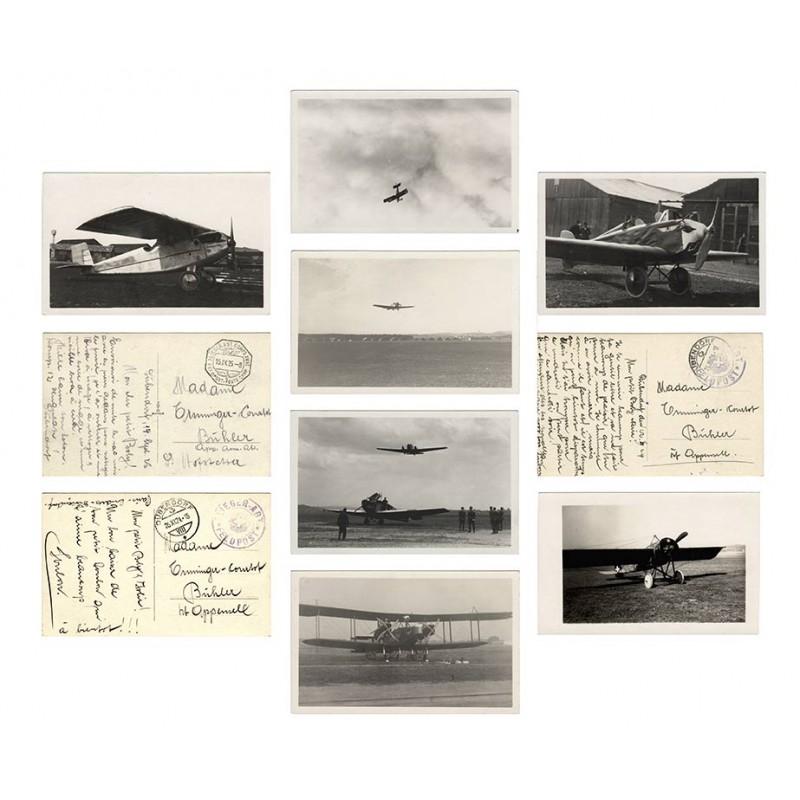 Schweizer Armee Flugzeuge - Militärflugplatz Dübendorf: 7 Original Fotografien (1924 / 1925)