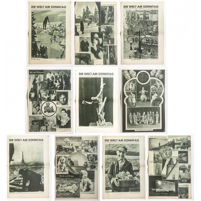 """Free"" Czechoslovakia: image strip by the Prague Press. 39 issues from 1936 - 1938"