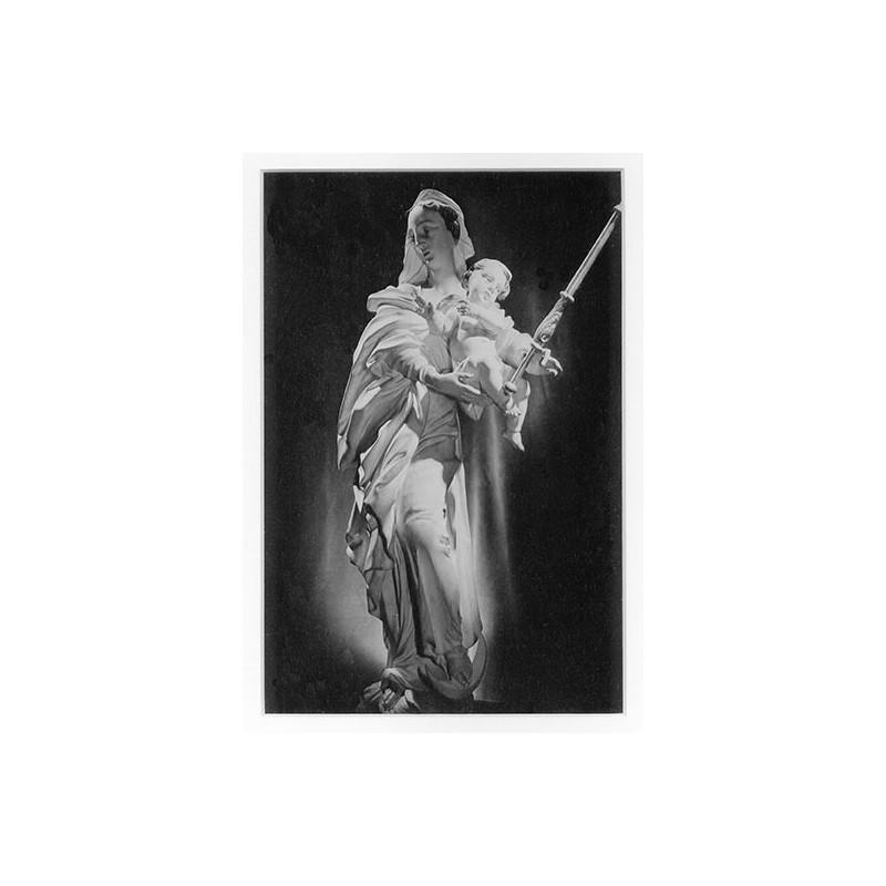 Siegfried LAUTERWASSER: Madonna-Statue. Original-Fotografie (1950er Jahre)