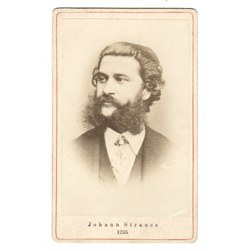Johann STRAUSS (son).  Original photography (approx. 1875)