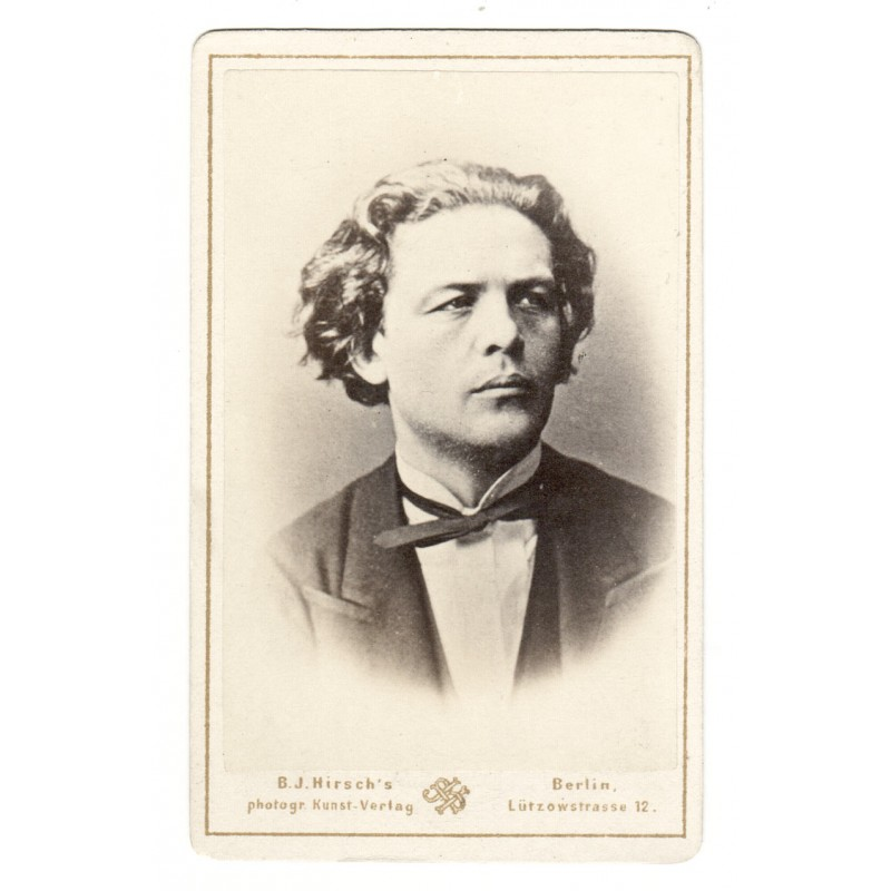 Anton RUBINSTEIN. Original photography.  Albumen print (approx. 1865).