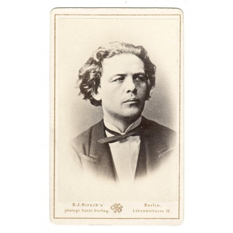 Bildnis von Anton RUBINSTEIN. Original-Fotografie (ca. 1865)