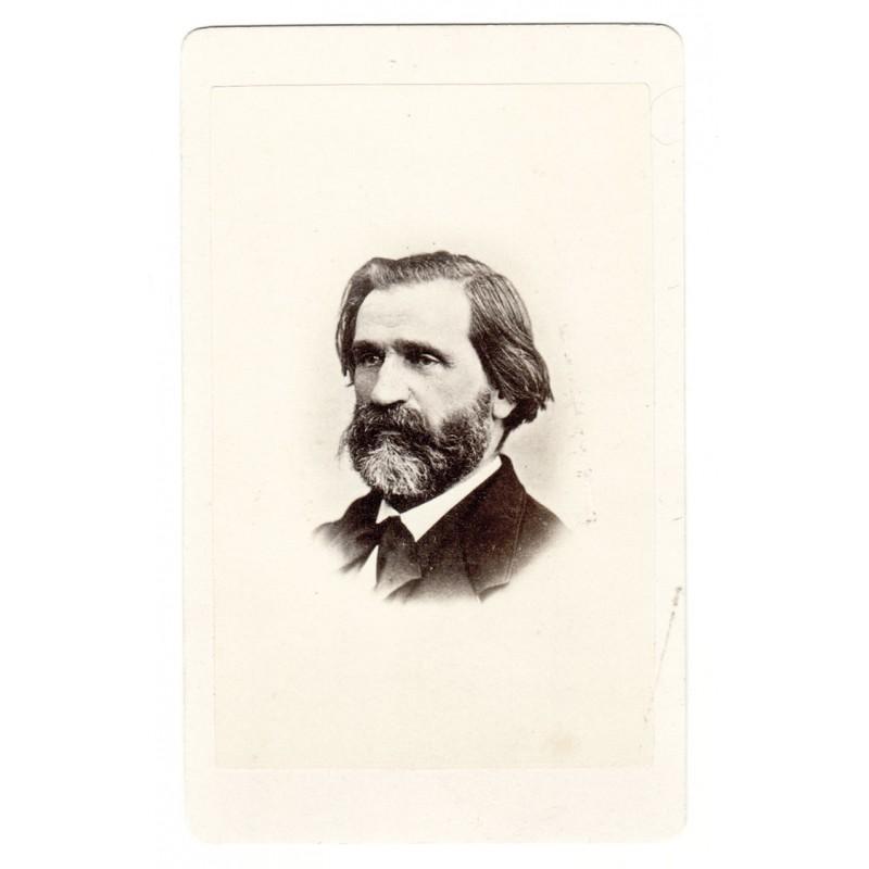 Bildnis des Komponisten Giuseppe Fortunino Francesco VERDI. Original-Fotografie (ca. 1870)