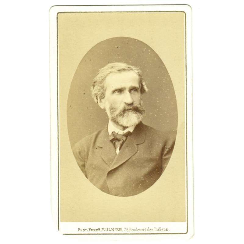 Composer Giuseppe Fortunino Francesco VERDI.  Original photography (approx. 1875)