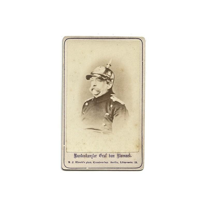 Otto Graf von Bismarck. Original-Fotografie. Albumin-Abzug (ca. 1870).
