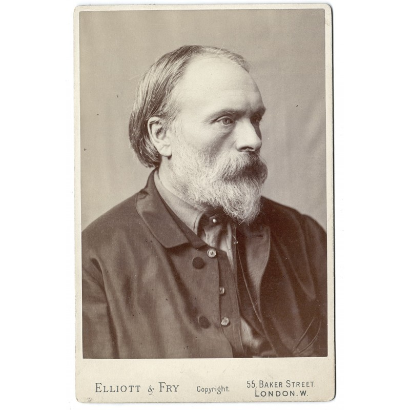 Portrait of Edward Burne-Jones, 1. Baronet ARA.  Original Photography (approx. 1870).