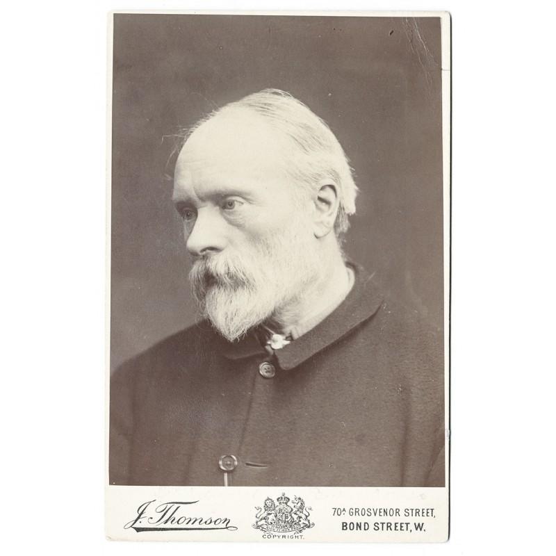 Portait of Edward Burne-Jones, 1. Baronet ARA. Original Photography. Albumen print (approx. 1895)