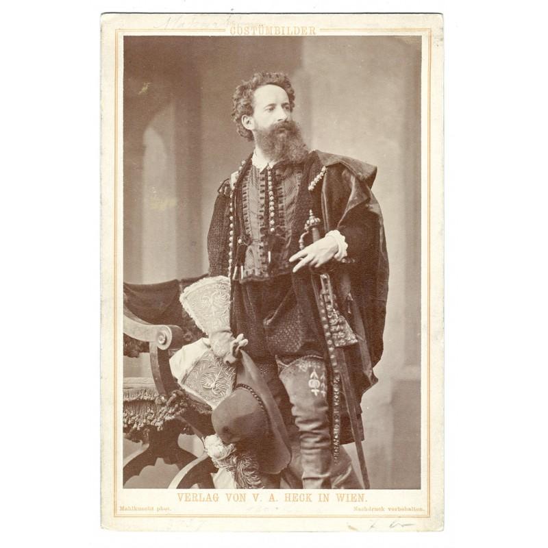 Porträt von Hans MARKART. Original Fotografie. Albumin Abzug (ca. 1894)