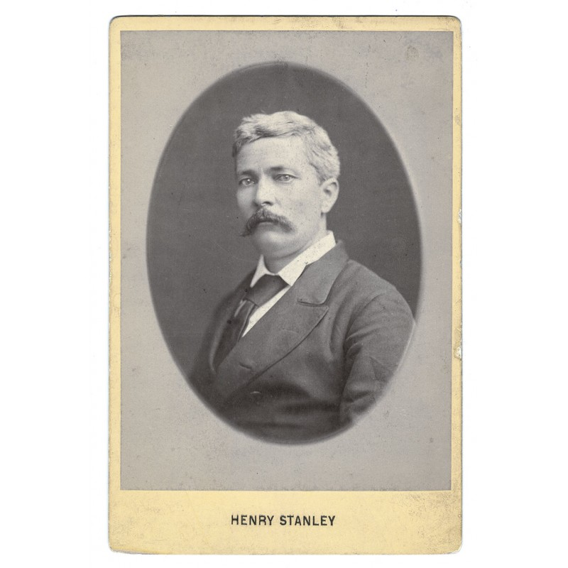 Sir Henry Morton Stanley. Original Photography.  Albumen print (approx. 1885)