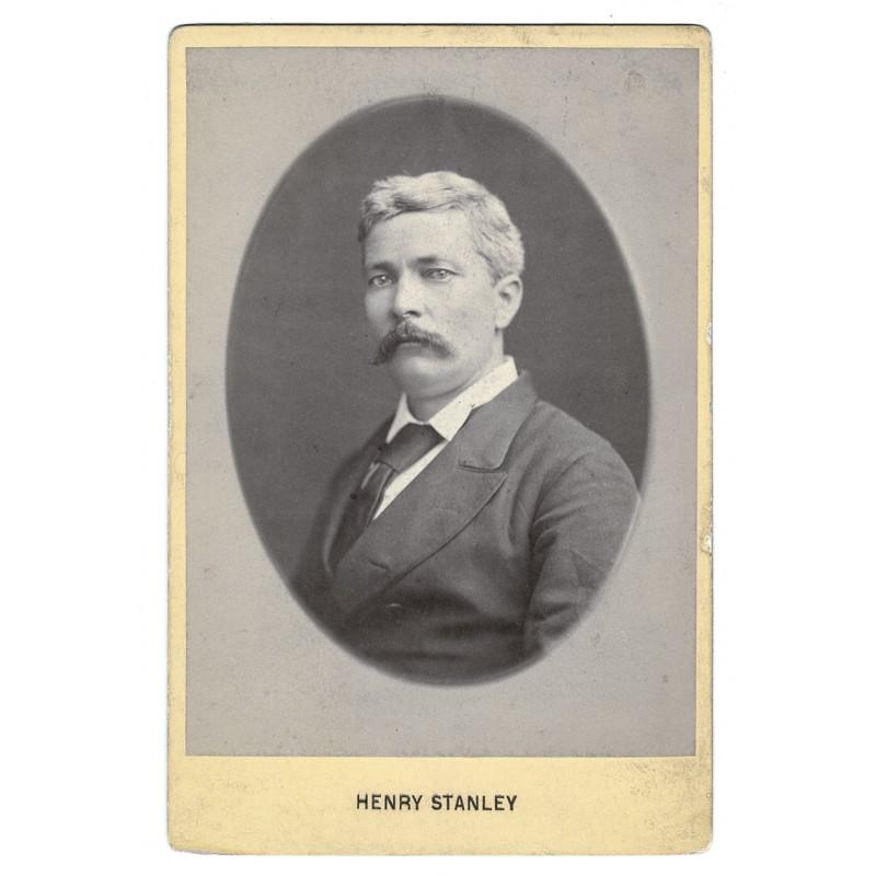 Bildnis von Sir Henry Morton Stanley. Original Fotografie (ca. 1885)