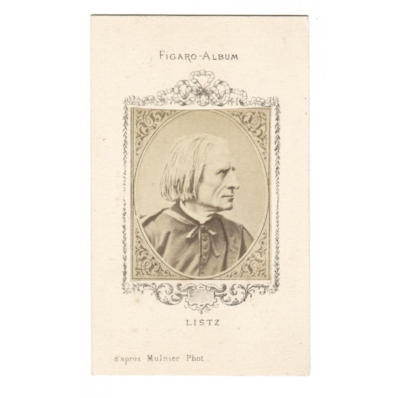 Franz LISZT. Original photography. Albumen print (approx. 1875)