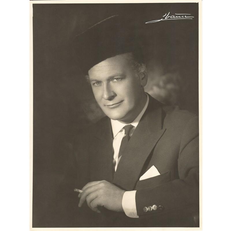 STUDIO IBANEZ: Der Movie Film Actor Curd Juergens. Portrait study. Original photo (1930th)