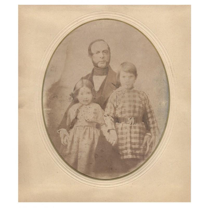 Salzpapier-Abzug - Foto-Atelier Gerethwohl: Familienbildnis auf Salzpapier (1845)