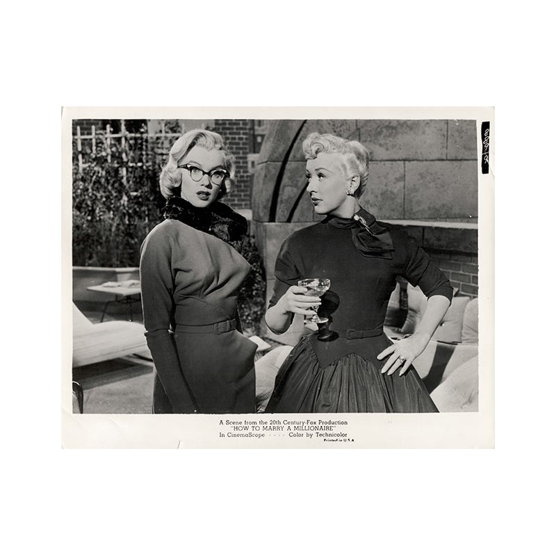 """Marilyn MONROE in Movie Picture """"How to Marry a Millionaire"""". Original photography (1953)"""