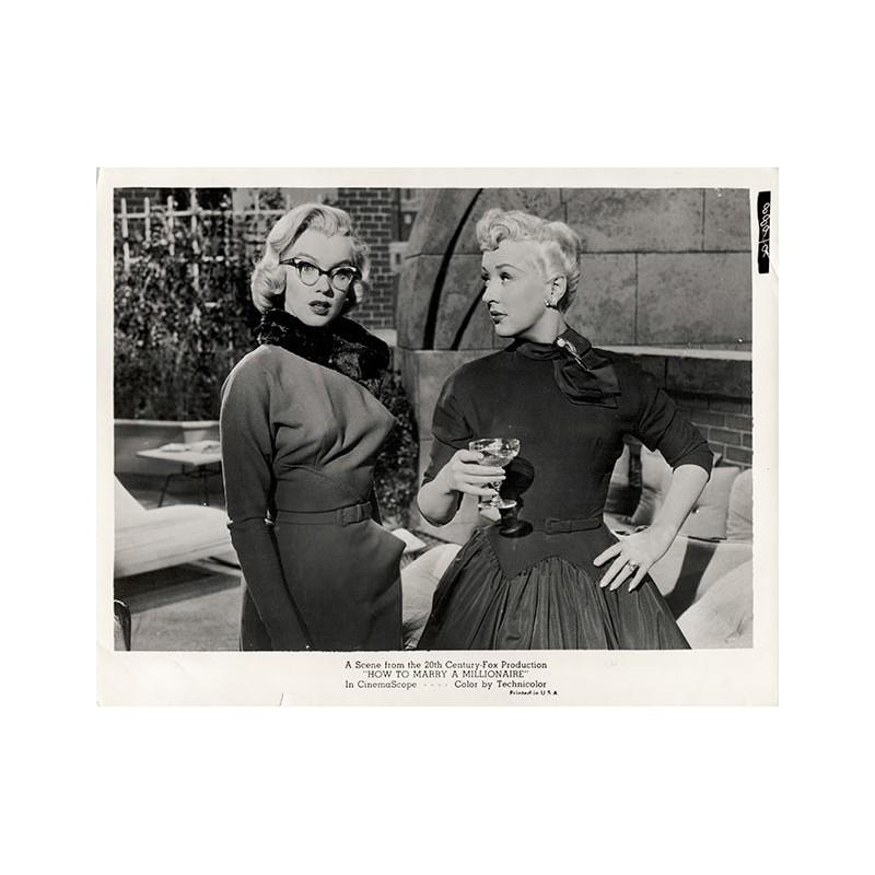 """Marilyn MONROE: Filmszene aus """"Wie angelt man sich einen Millionär?"""" Original Foto (1953)"""