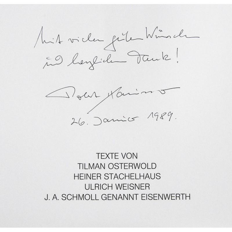 Widmungsexemplar und Autograph von Robert HÄUSSER (1988 u.w.)