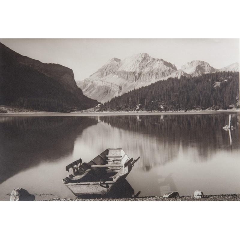 Oskar Friedrich HARI: Herbsttag am Oeschinensee. Original-Fotografie (1940er Jahre)